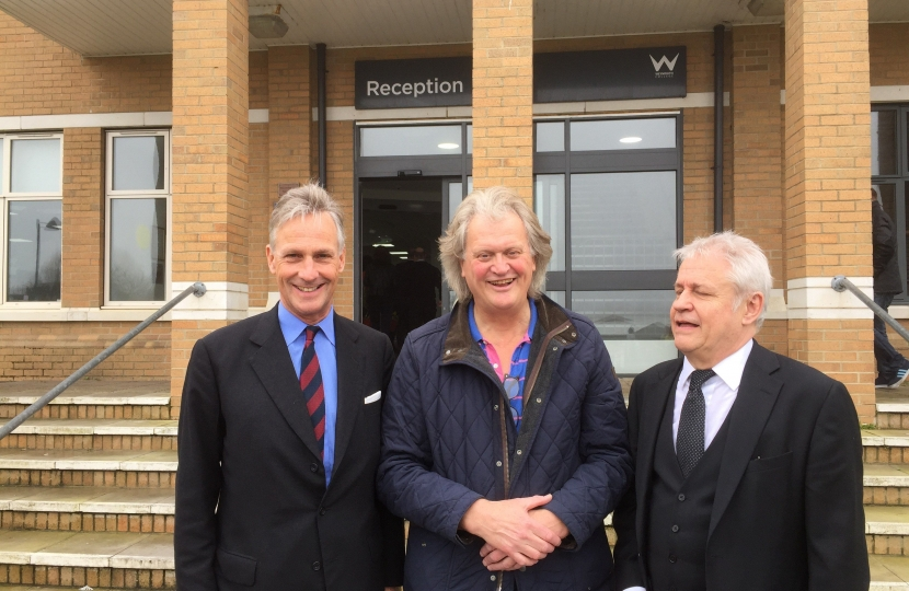 Richard Drax, Tim Martin and the head of Weymouth College