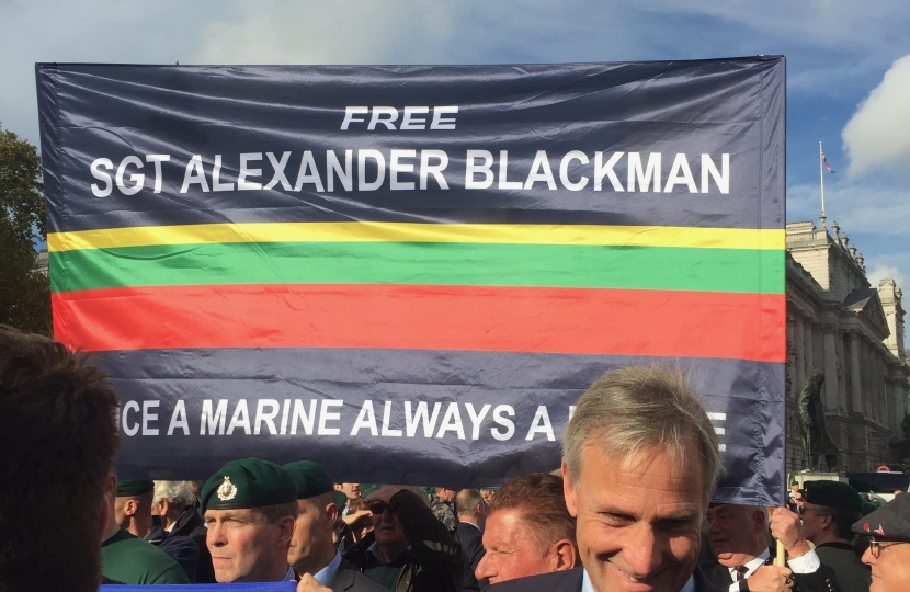 Richard and campaigners for Sergeant Alexander Blackman